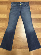Seven 7 for all Mankind A POCKET Bootcut Flare Jeans Tag Size Womens 27 USA