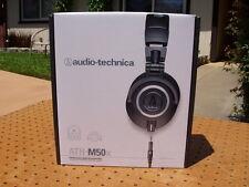 AUDIO-TECHNICA ATH-M50x PROFESSIONAL MONITOR HEADPHONES HEADBAND BLACK NEW NIB