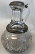 RARE ANTIQUE WILLIAM B FENN SYRUP LIPPED CARAFE PERFECTION 1897  7""