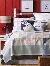 SOUTHWINDS Full / Queen QUILT SET - NAUTICAL BEACH HOUSE SAIL BOAT COMFORTER