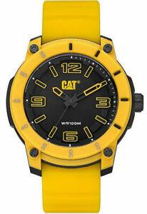 Men's CAT Caterpillar Analog All Yellow 45mm Watch LG14027127