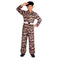 Army Uniform Boys Fancy Dress Costume Special Force Army Camo Soldier Marine Kid