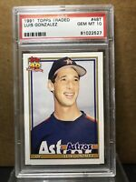 1991 Topps Traded Luis Gonzalez #48T PSA 10 GEM MT Houston Astros