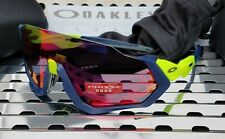 New Oakley FLIGHT JACKET 9401-0537 Sunglasses Retina Burn-Navy w/ Prizm Road