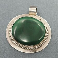 Green Malachite Womens Mens Pendant 925 Sterling Silver Fine Jewelry