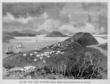 SINALOA MEXICO NEW PACIFIC COLONY TOPOLOBAMPO 1887 HISTORY CLIPPER SHIPS TENTS