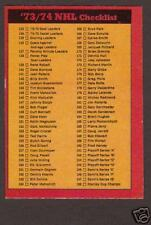 1973-74 OPC Hockey Unmarked Checklist #129 NMT++ RARE!