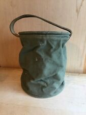 Vintage 1944 WWII Canvas Collapsible Water Bucket Army Field Gear Nice!