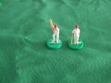 SUBBUTEO Vintage Cricket ACCESSORI/RICAMBI-ORIGINALE batsmen RED CAPS