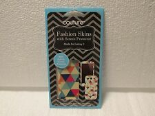 NIP Couture fashion skins with screen protector for Galaxy 3-FREE SHIPPING