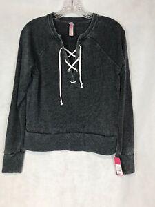 Xhilaration Women's Sleep Sweatshirt Gray Charity NWT