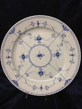 "ROYAL COPENHAGEN DENMARK BLUE FLUTED HALF LACE BORDER CHOP PLATE 13"" FLORAL 539"