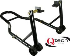 Qtech Motorcycle Rear Wheel PADDOCK STAND for Bobbins with Swing Arm CUP Adaptor
