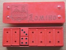 Vintage Red USSR Soviet Russian Souvenir Domino Original Brain Box Game People O
