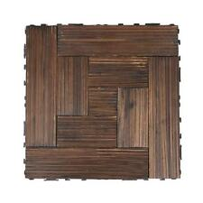 Bare Decor Floor Interlocking Flooring Tiles in Solid Teak Wood Oiled Finish a