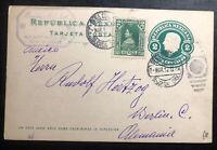 1912 Oaxaca Mexico Stationery Postcard  Cover To Berlin Germany