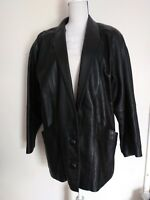 Vintage Euro Mond Of California Leather Jacket Women's Size Medium Black