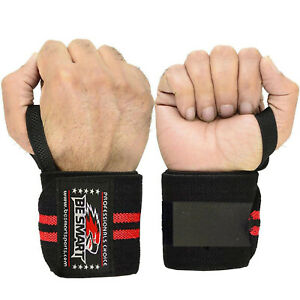 BE SMART WEIGHT LIFTING GYM TRAINING WRIST SUPPORT STRAPS WRAPS BODYBUILDING