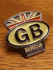 AUTHENTIC LIMITED EDITION BARBOUR INTERNATIONAL GB PIN BADGE