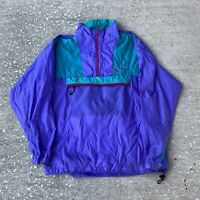 Vintage 90s Color Blocked Vail Colorado Anorak Windbreaker Size Large