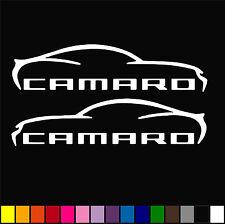 2x Chevrolet Camaro Decal Muscle Car Racing Decor Window Vinyl STICKER