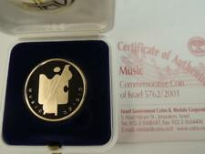 """2001 Artists of Israel """"Music""""  Proof Coin, 1/2 oz Gold, Box & COA, Mintage 766"""