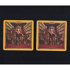 2 WALLY LEWIS Coasters XXXX beer QLD rugby league memorabilia State of Origin