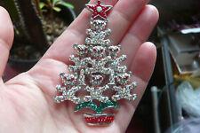 Bear Christmas Tree Brooch Butler and Wilson Diamante Teddy