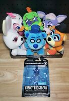 Five Nights at Freddy's Plush Set of 7 Glamrock Freddy Frostbear & Display Box