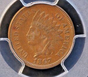 1867 Indian Cent PCGS AU55