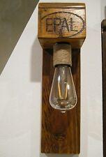 Wandlampe LED Palettenmöbel Vintage Holz Upcycling