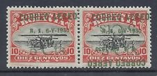 BOLIVIA 1930 AIRMAIL 5c INVERTED OVERPRINT & NORMAL PAIR WITH CERTIFICATE
