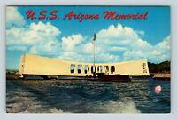 Honolulu HI, U.S.S. Arizona Memorial, Pearl Harbor, Chrome Hawaii Postcard
