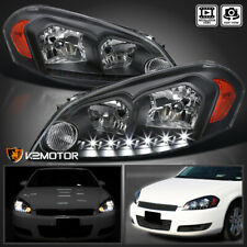 For 2006-2013 Chevy Impala 06-07 Monte Carlo Black Smd Led Drl Headlights Lamps