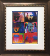 "Peter Max ""Mona Lisa 1990-96"" CUSTOM FRAMED Print Art POP psychedelic Louvre"