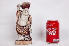 Bouddha rieur, sculpture en véritable pierre blanche très dure. Milieu 20ème siè