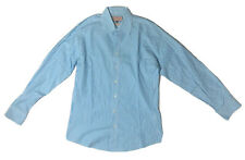 Thomas Pink Light Blue Striped Long Sleeve Button Up Shirt Men's M Slim Fit