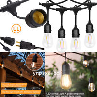 US 48FT/52FT LED Waterproof Commercial Grade Patio Globe String Lights S14 Bulbs