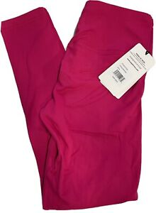 Yoga-Lic-Ious Leggings Sz Large Rubine Red (HotPink) MSRP $88. High Waist NWT