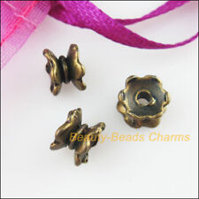 20 New Connectors Lotus Flower Antiqued Bronze Tone End Bead Caps 5x7mm