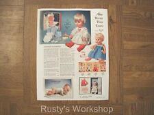 American Character Teeny Tiny Tears & Uneeda Bareskin Baby Ad (Reproduction)