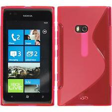 Coque en Silicone  Nokia Lumia 900 - S-Style rose chaud + films de protection