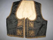 Antique Old Traditional Ethno Folk Handmade Serbian Women's Vest METAL THREAD !