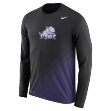 NIKE TEXAS CHRISTIAN UNIVERSITY TCU SIDELINE GRADIENT DRI FIT LEGEND SHIRT