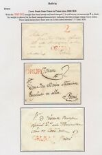 1800-1820 BOLIVIA COVERS (FRONTS ONLY) ORURO TO POTOSI 2 REAL CHARGE