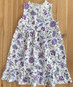 JANIE AND JACK Purple Floral Ponte Dress Size 12 EUC