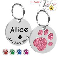 Placa identificativa para gatos y perros Chapa identificación Para Collar Rosa