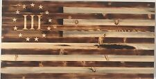 Torched Rustic 1776 III% American Flag