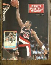 Issue #8 Beckett Basketball Monthly Mar 1991 Clyde Drexler front cover