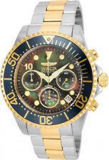 Relojes de pulsera Invicta de acero inoxidable de oro amarillo